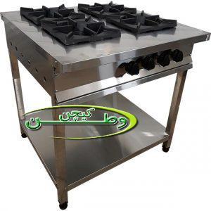 اجاق گاز فشار قوی رستورانی چهار شعله