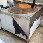 ساج چدنی تنور نانوایی بدنه استیل با دودکش گاز