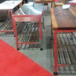 میز استیل با پایه پاتروکی صنعتی رستورانی