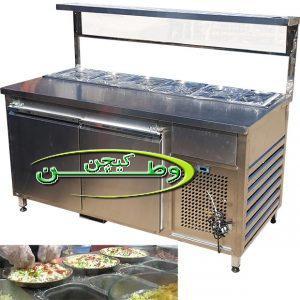 تاپینگ سرد فست فود پیتزا ساندویچی طول ۱۷۰ سانتیمتر
