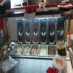 تاپینگ پیتزا هفت لگن با پیشخوان رف ریل شیشه