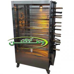 دستگاه جوجه گردان ۱۲ سیخ استیل با نور هالوژن