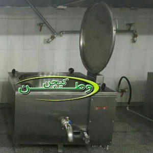 دستگاه دیگ پخت برنج اتوماتیک چلویی نما مکعب استیل سایز۳۰۰لیتر