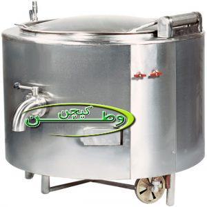 دیگ خورشت پز صنعتی استوانه ای جوشی ۱۰۰لیتری