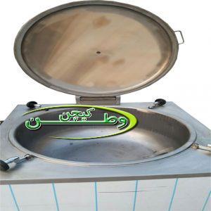 دیگ خورشت پز مکعبی جوشی استیل ۱۰۰لیتر