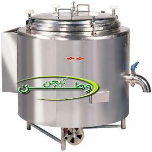 دیگ پخت برنج صنعتی استوانه ای جوشی ۱۷۰لیتری