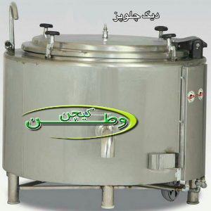 دیگ چلوپز صنعتی استیل جوشی استوانه ای ۳۰۰لیتر
