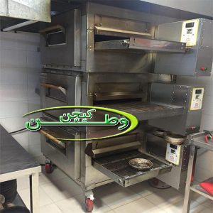 فر پیتزا ریلی سه طبقه فست فود