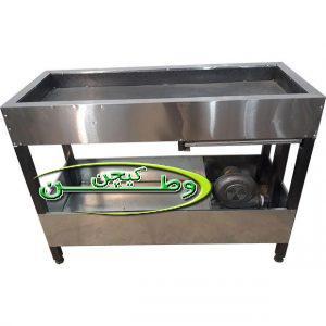 منقل کباب پز ذغالی فن دار صنعتی دهنه چهل سانتیمتر