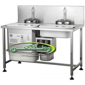 میز بردینگ پودرزن ایرکینگ با دستگاه مخلوط کن و الک اتوماتیک