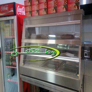 گرمکن دیسپلی ایرانی فست فود مرغ سوخاری