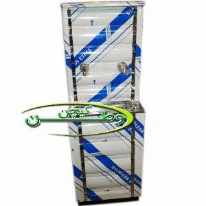 آبسردکن خطی دو شیر استیل با مخزن ذخیره سازی