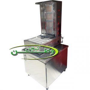 دستگاه کباب ترکی رومیزی با شعله ثابت