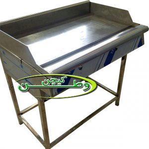 دستگاه گریل تخت پایه دار مخصوص کباب لقمه