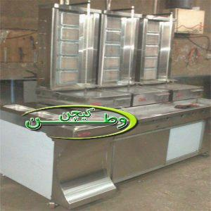 سه دستگاه کباب ترکی رومیزی با میز گریل