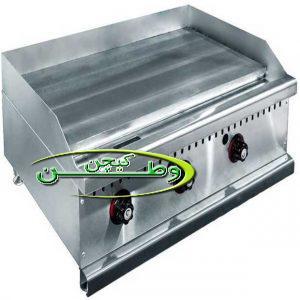 فروش دستگاه گریل روغنی تخت استیل با سه شیر گازی