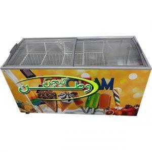 فریزر صندوقی بستنی فروشی پانصد لیتری با درب کشویی محدب