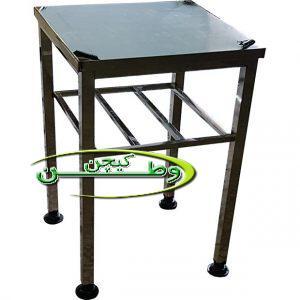 میز استیل صنعتی طول ۶۰ سانتیمتر