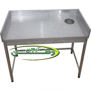 میز برنج پاک کنی رستورانی با حفره قطر۲۰سانتیمتر