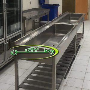 وان شستشوی سبزیجات از جنس استیل صنعتی