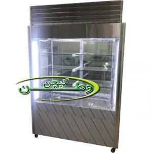 یخچال رستورانی استیل چهار درب نما شیشه