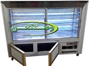 یخچال ویترینی مکعبی ایستاده طول۱۹۰سانتیمتر نما سی ان سی