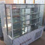 یخچال شیشه مکعبی ۱.۵متری استیل خشدار
